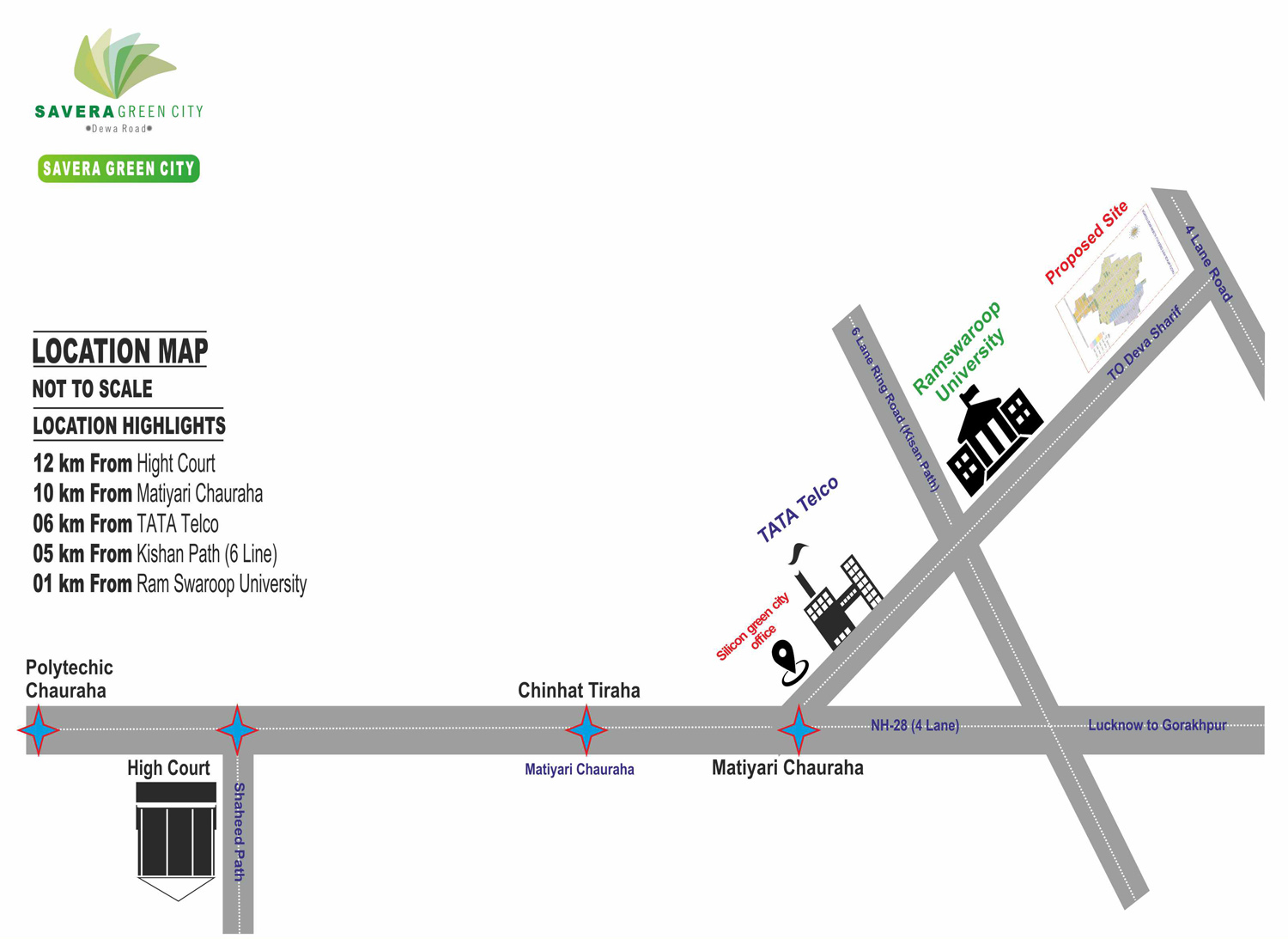 Savera Green City Location Map